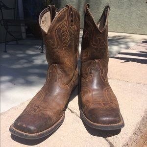 Ariat Honor Square Toe Boots Youth/Mens Size 6